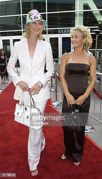 Actors Joely Richardson and Kelly Carlson attend a screening of the pilot episode of the FX original television drama series 'Nip/Tuck' on July 19...