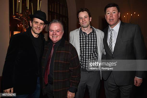 Actors Joey McIntyre Jack McGee Tyler Ritter and Jimmy Dunn attend Entertainment Weekly's celebration honoring the 2015 SAG awards nominees at...