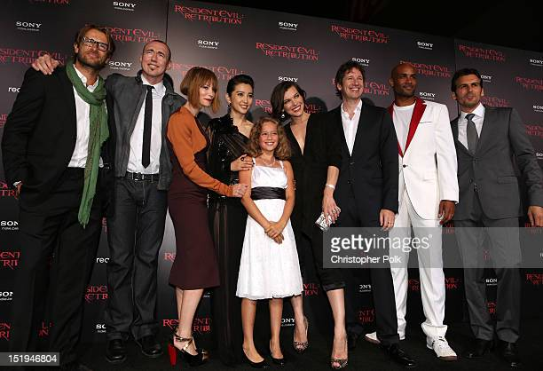 Actors Johann Urb Kevin Durand Sienna Guillory Li Bingbing Aryana Engineer Milla Jovovich writer/director/producer Paul WS Anderson and actors Boris...