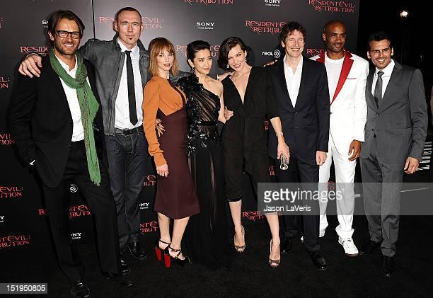 Actors Johann Urb Kevin Durand Sienna Guillory Li Bingbing Milla Jovovich writer/director/producer Paul WS Anderson and actors Boris Kodjoe and Oded...