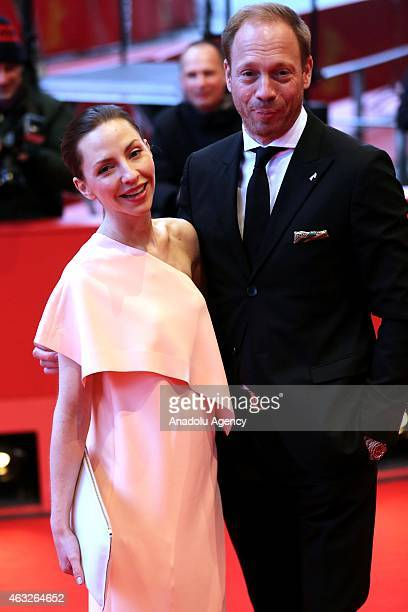 Actors Johann von Buelow and actress Katharina Schuettler attend the '13 Minutes' premiere during the 65th Berlinale International Film Festival at...