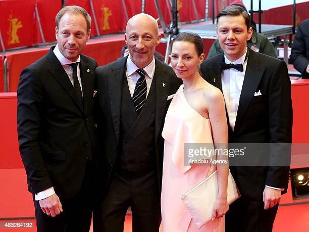 Actors Johann von Buelow , Christian Friedel actress Katharina Schuettler and director Oliver Hirschbiegel attend the '13 Minutes' premiere during...