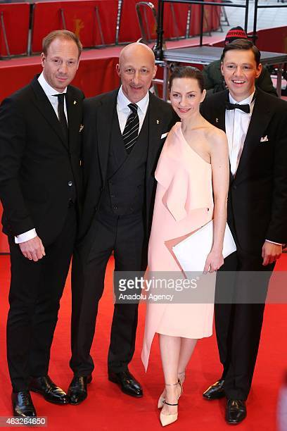 Actors Johann von Buelow , Christian Friedel actress Katharina Schuettler and director Oliver Hirschbiegel , attend the '13 Minutes' premiere during...