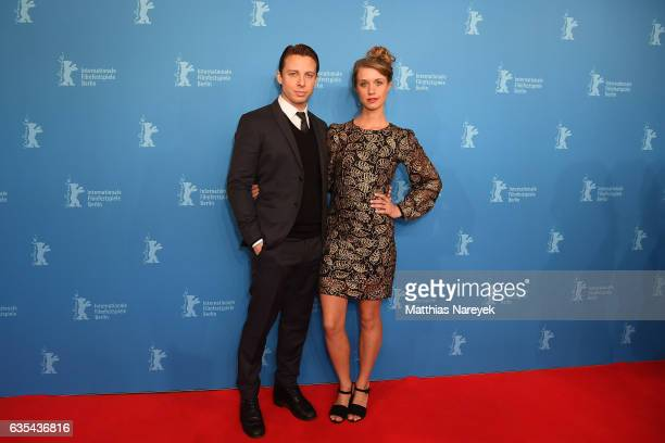 Actors Johannes Lassen and Sara Hjort Ditlevsen attend the 'Below The Surface' premiere during the 67th Berlinale International Film Festival Berlin...