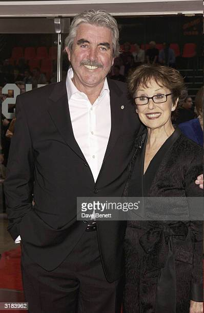 Actors John Alderton and Una Stubbs attend the UK premiere of Calender Girls at the Odeon Leicester Square London on September 3rd 2003