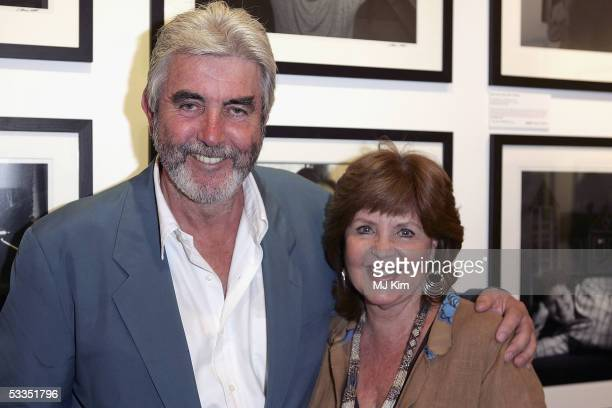 Actors John Alderton and wife Pauline Collins attend at the private view for Off Stage The RADA Centenary Portraits photographer Cambridge Jones's...