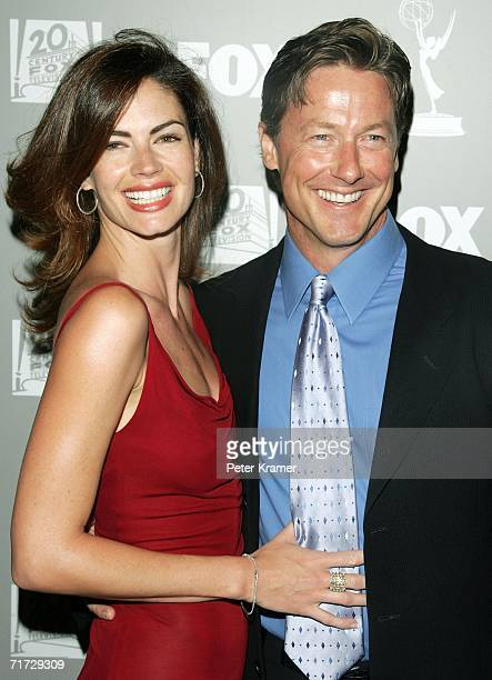 Actors John Allen Nelson and Justine Eyre arrive at the 20th Century Fox Television and FOX Broadcasting Company 2006 Emmy party held at Spago on...