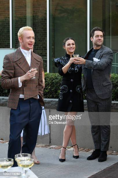 Actors John Bell, Sophie Skelton and Richard Rankin attend the 21st SCAD Savannah Film Festival premiere screening and costume exhibition for...