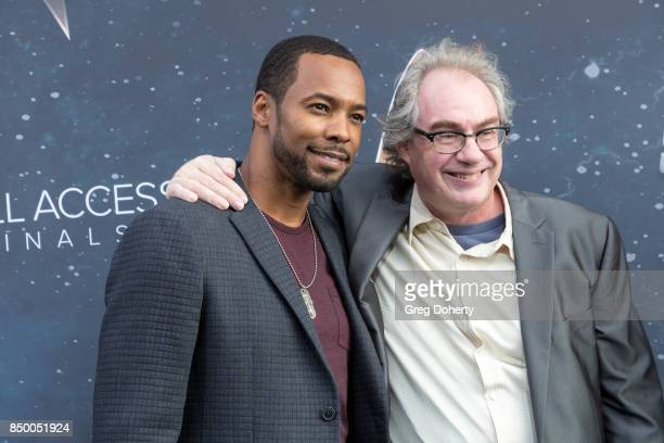 Actors John Billingsley and Anthony Montgomery arrive for the Premiere Of CBS's 'Star Trek Discovery' at The Cinerama Dome on September 19 2017 in...