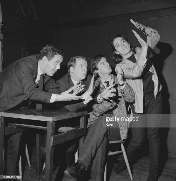 Actors John Bird John Fortune Eleanor Bron and Jeremy Geidt part of The Establishment comedy team UK 5th November 1963