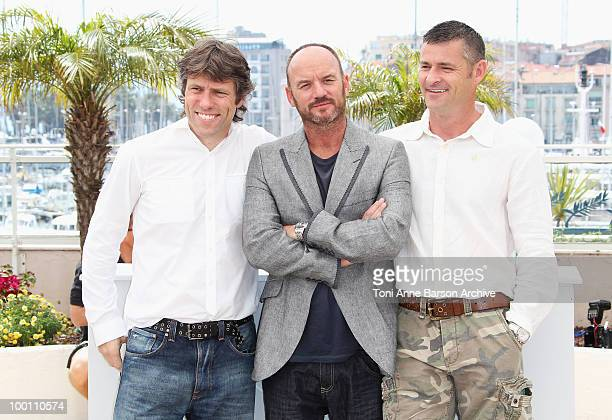 Actors John Bishop Mark Womack and Jack Fortune attend the 'Route Irish' Photo Call held at the Palais des Festivals during the 63rd Annual...