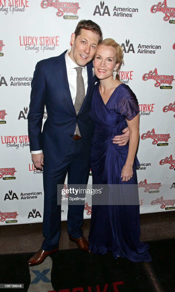 Actors John Bolton and Erin Dilly attend 'A Christmas Story: The Musical' Broadway opening night after party on November 19, 2012 in New York City.
