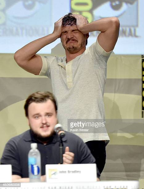 Actors John Bradley and Pedro Pascal attend HBO's 'Game Of Thrones' panel and QA during ComicCon International 2014 at San Diego Convention Center on...