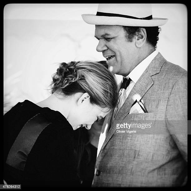 Actors John C Reilly and Lea Seydoux are photographed on May 15 2015 in Cannes France