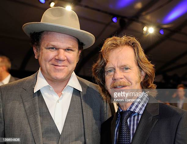 Actors John C Reilly and William H Macy attend the 2012 Film Independent Spirit Awards Cocktail Party held at the Santa Monica Pier on February 25...