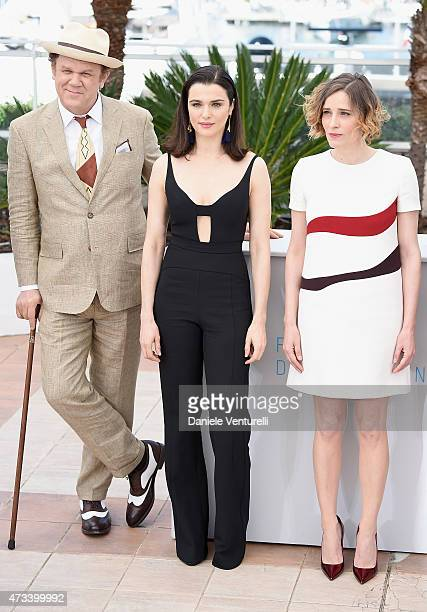 Actors John C Reilly Rachel Weisz and Angeliki Papoulia attend the 'Lobster' Photocall during the 68th annual Cannes Film Festival on May 15 2015 in...