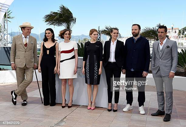 Actors John C Reilly Rachel Weisz Angeliki Papoulia Lea Seydoux Ariane Labed director Yorgos Lanthimos and actor Colin Farrell attend a photocall for...