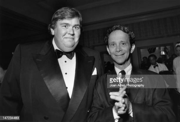 Actors John Candy and Joel Grey attend the American Comedy Awards on February 9, 1997 at the Shrine Auditorium in Los Angeles, California.