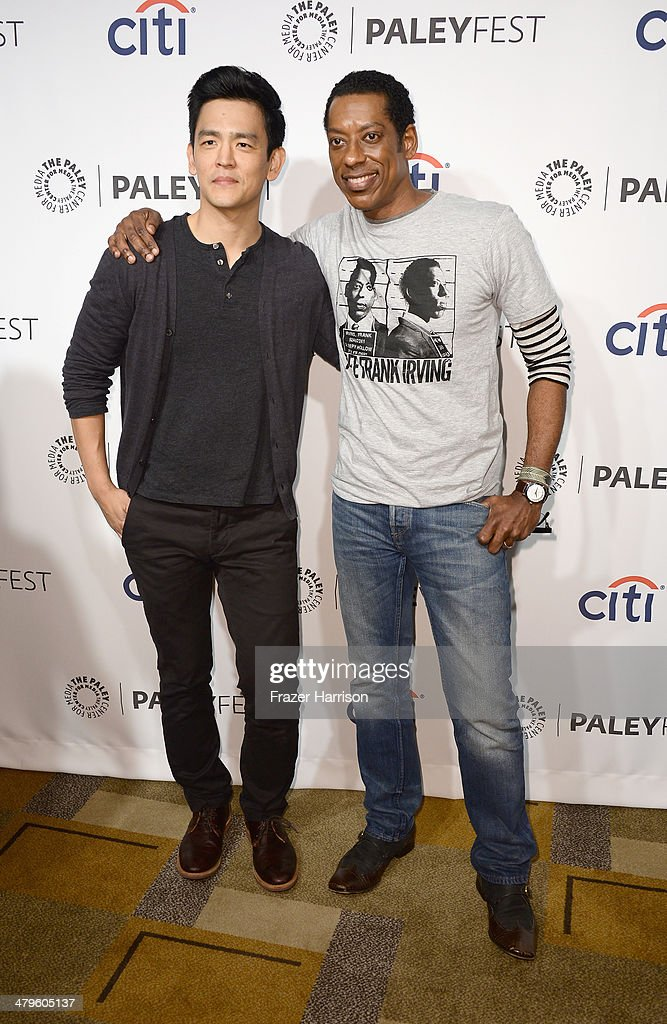 Actors John Cho; and Orlando Jones arrive at The Paley Center for Media's PaleyFest 2014 Honoring 'Sleepy Hollow' at Dolby Theatre on March 19, 2014 in Hollywood, California.