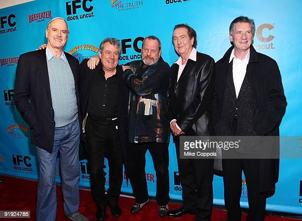 Actors John Cleese Terry Jones Terry Gilliam Eric Idle and Michael Palin attend the Monty Python 40th anniversary event at the Ziegfeld Theatre on...