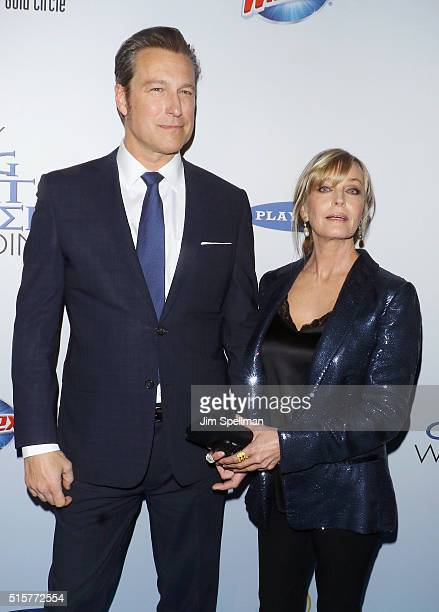 Actors John Corbett and Bo Derek attend the My Big Fat Greek Wedding 2 New York premiere at AMC Loews Lincoln Square 13 theater on March 15 2016 in...