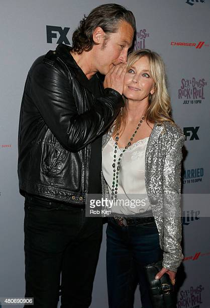 "Actors John Corbett and Bo Derek attend the New York Series Premiere of ""Sex&Drugs&Rock&Roll"" at the SVA Theater on July 14, 2015 in New York City."