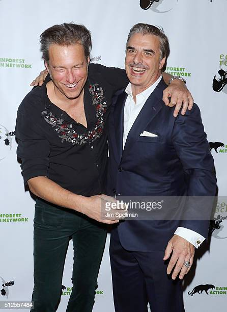 Actors John Corbett and Chris Noth attend the 2016 Eco Rock a benefit for the Rainforest Action Network at The Cutting Room on February 26 2016 in...