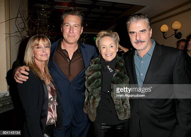Actors John Corbett Bo Derek Sharon Stone and Chris Noth attend Ketel One Vodka Celebrates Excellence In Cinema with 'Spotlight' PreGolden Globe...