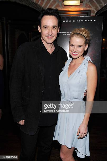 Actors John Cusack and Alice Eve attend The Raven New York Red Carpet Screening After Party Presented By DeLeon Tequila at The VAULT on April 16 2012...