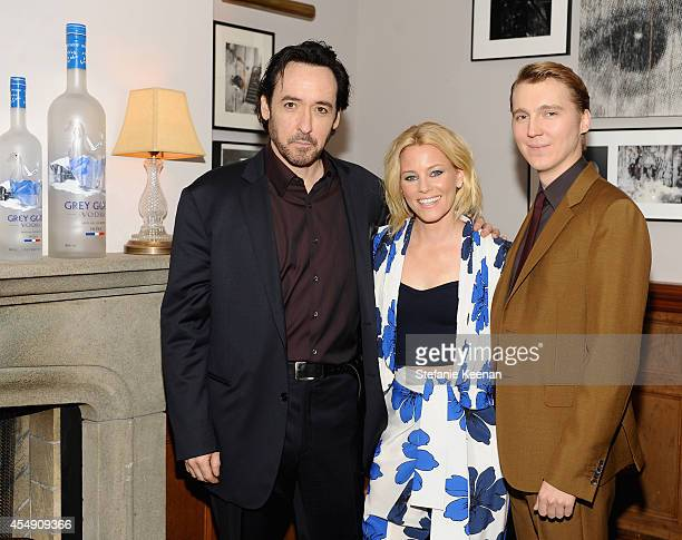 Actors John Cusack Elizabeth Banks and Paul Dano at the 'Love Mercy' world premiere party hosted by GREY GOOSE vodka and Soho House Toronto during...