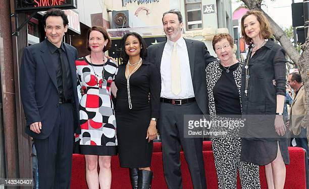 Actors John Cusack Joan Cusack and family members attend John Cusack being honored with a Star on the Hollywood Walk of Fame on April 24 2012 in...