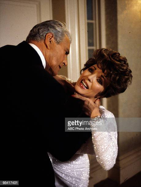 DYNASTY 'The Choice The Vendetta' Season 5/21/86 A raging Blake choked Alexis after she tampered with his finances