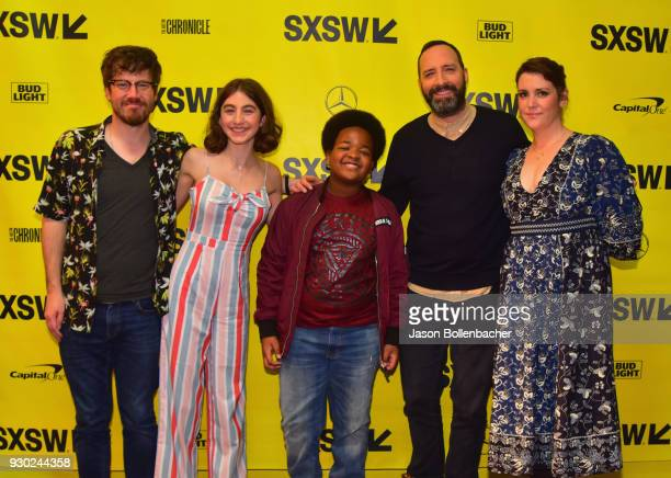 Actors John Gallagher Jr Sophia Mitri Schloss Keith L Williams Tony Hale and Melanie Lynskey attend the premiere of 'SADIE' during SXSW at Stateside...