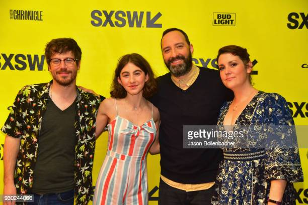 Actors John Gallagher Jr Sophia Mitri Schloss Tony Hale and Melanie Lynskey attend the premiere of 'SADIE' during SXSW at Stateside Theater on March...