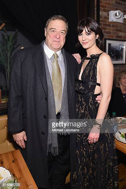 Actors John Goodman and Mary Elizabeth Winstead attend the '10 Cloverfield Lane' New York Premiere after party at the Ribbon on March 8 2016 in New...