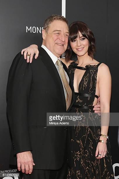 Actors John Goodman and Mary Elizabeth Winstead attend the New York premiere of 10 Cloverfield Lane at AMC Loews Lincoln Square 13 theater on March 8...