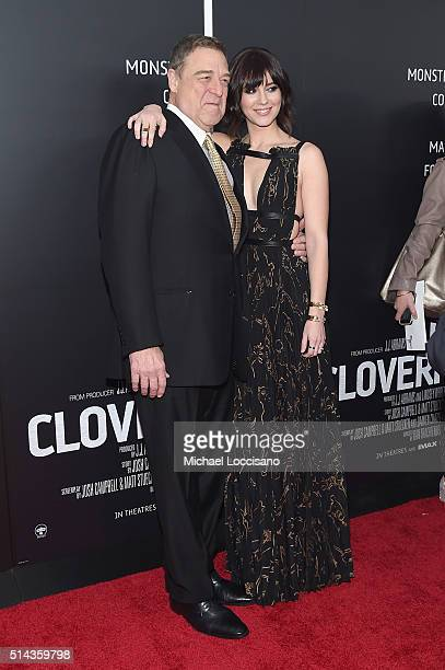 Actors John Goodman and Mary Elizabeth Winstead attends the 10 Cloverfield Lane New York premiere at AMC Loews Lincoln Square 13 theater on March 8...