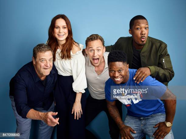 Actors John Goodman Brie Larson Tom Hiddleston Corey Hawkins and Jason Mitchell from 'Kong Skull Island' are photographed for Entertainment Weekly...