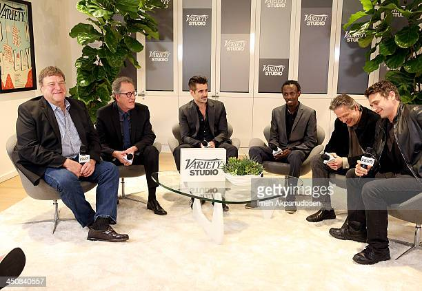Actors John Goodman Geoffrey Rush Colin Farrell Barkhad Abdi Chris Cooper and James Franco attend Variety Awards Studio Day 1 at the Leica Gallery...