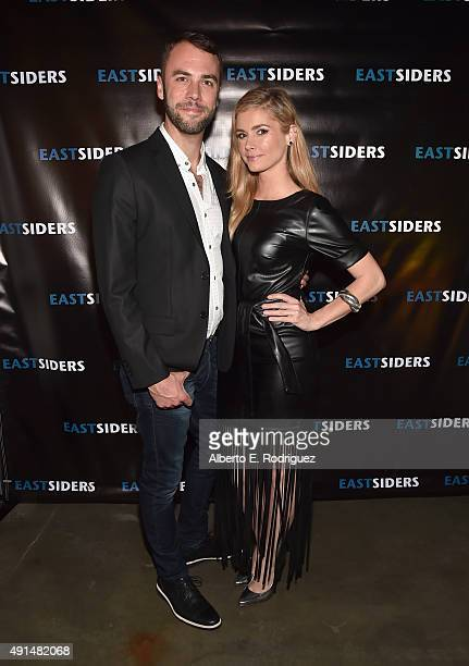 Actors John Halbach and Brianna Brown attend the premiere of Go Team Entertainment's EastSiders season 2 at The Downtown Independent on October 5...