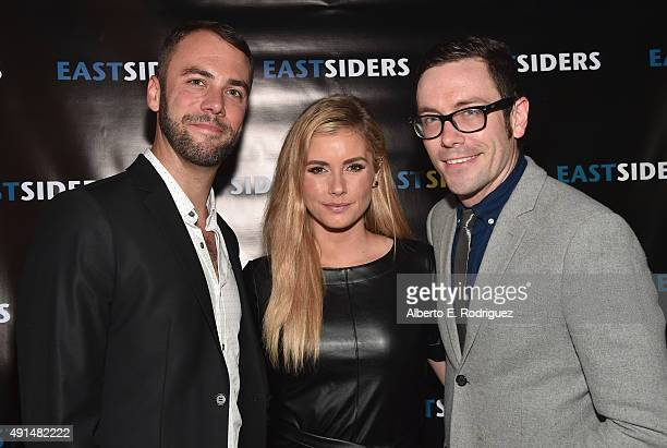 Actors John Halbach Brianna Brown and writer/director Kit Williamson attend the premiere of Go Team Entertainment's EastSiders season 2 at The...