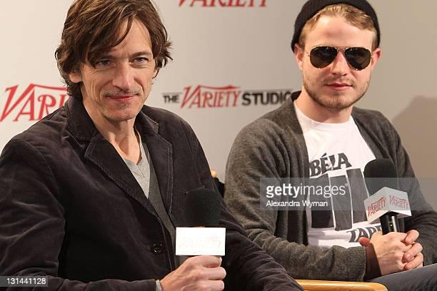 Actors John Hawkes and Brady Corbet speak at the Variety Studio at Sundance on January 22 2011 in Park City Utah