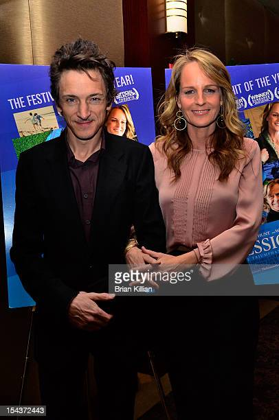 Actors John Hawkes and Helen Hunt attend the 'The Sessions' New York Screening at the Dolby 88 Theater on October 18 2012 in New York City