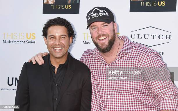 Actors John Huertas and Chris Sullivan attend launch party for UMe's 'This Is Us ' at Clutch on September 13 2017 in Venice California