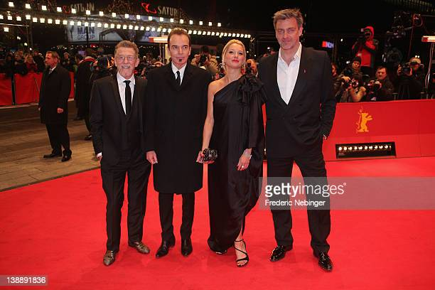 Actors John Hurt Ray Stevenson Katherine LaNasa and director Billy Bob Thornton attend the Jayne Mansfield's Car Premiere during day five of the 62nd...