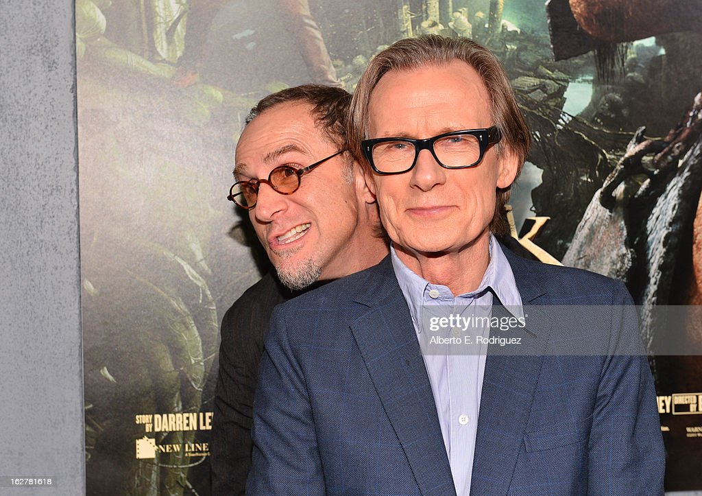 Actors John Kassir (L) and Bill Nighy attends the premiere of New Line Cinema's 'Jack The Giant Slayer' at TCL Chinese Theatre on February 26, 2013 in Hollywood, California.