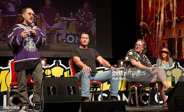 Actors John Kassir Ken Kirzinger Tommy Lee Wallace and Linda Blair attend day two of the Alamo City Comic Con at the Henry B Gonzalez Convention...