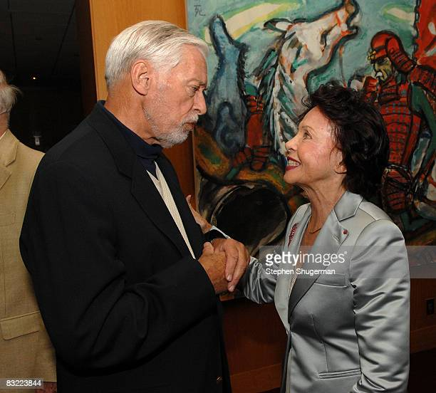 Actors John Kerr and Leslie Caron attend An Academy Salute to Leslie Caron at the Academy of Motion Picture Arts Sciences on October 10 2008 in...