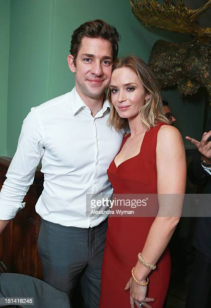 Actors John Krasinski and Emily Blunt attend the 'Looper' party hosted by Grey Goose at Soho House Toronto on September 6 2012 in Toronto Canada