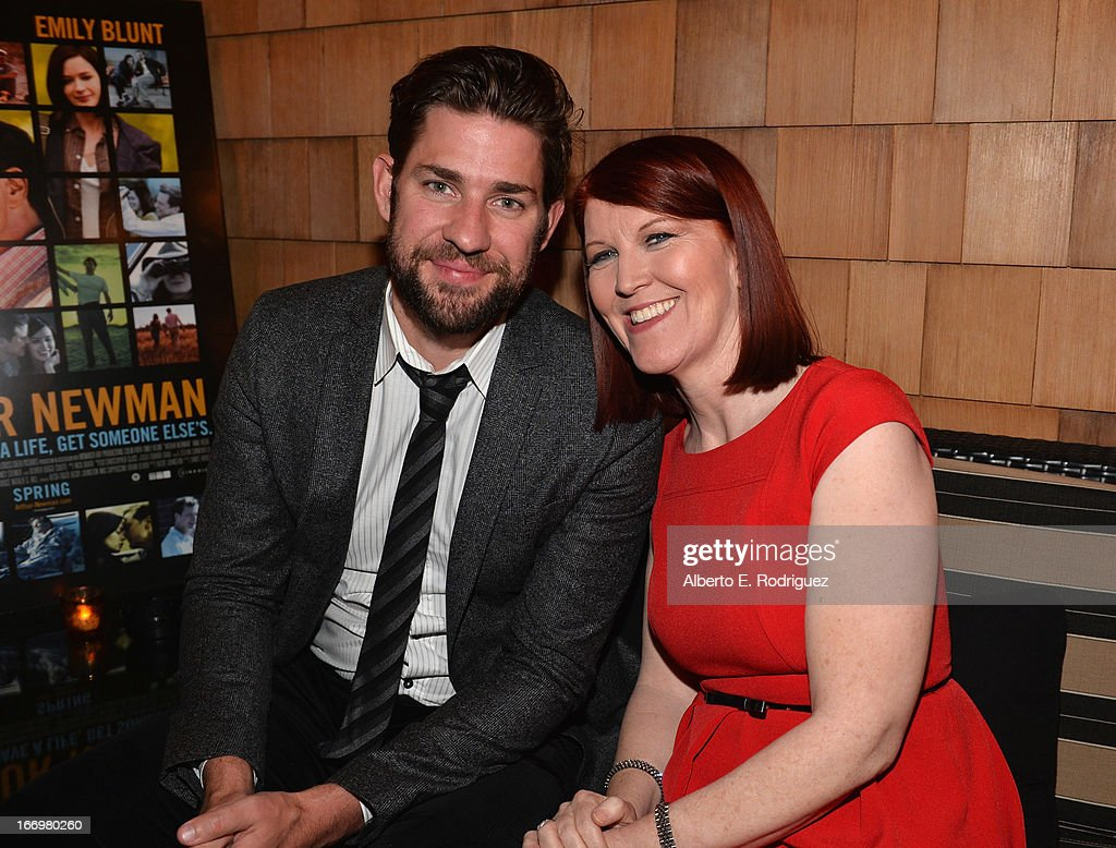 Actors John Krasinski and Kate Flannery attend the after party for the premiere of Cinedigm's 'Arthur Newman' at on April 18, 2013 in Hollywood, California.